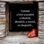 Féltelek a hívó szavaktól a titkoktól, álmoktól, a mástól, az idegentől...