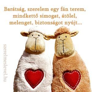 Barátság, szerelem egy fán terem, mindkettő simogat, átölel, melenget, biztonságot nyújt...