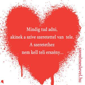 Mindig tud adni, akinek a szíve szeretettel van   tele. A szeretethez nem kell teli erszény...